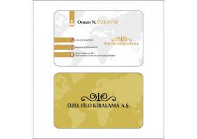 Özel Filo'nun kartvizit tasarımı - ErkanD