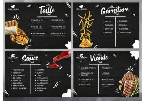 Fast Food Menüsü Tasarimi - nadesign
